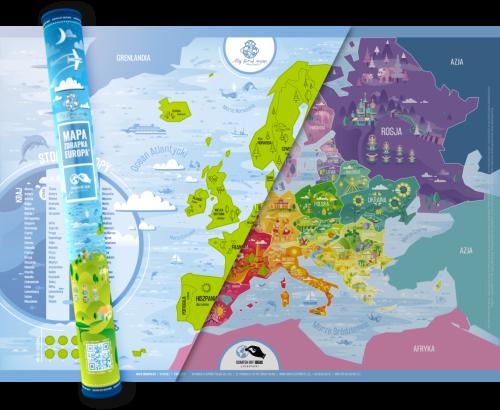 Mapa Zdrapka Europy Playprintpl